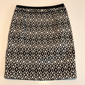 Mario Serrani black & white skirt small / Italy